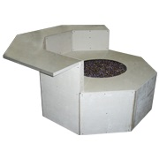 Graysen Woods Octagon Fire Pit with Dining Ledge