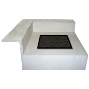 Graysen Woods Square Fire Pit with Dining Ledge